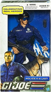 GI Joe Real American Hero 12 Inch Action Figure Police K-9 Unit [Random Skin Color]