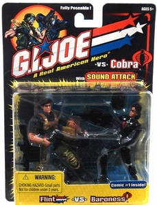 G. I. Joe Hasbro A Real American Hero vs Cobra Action Figure 2-Pack Flint vs Baroness