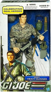 GI Joe Real American Hero 12 Inch Action Figure Army Heavy Gunner