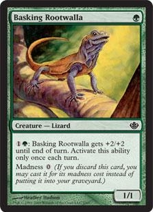 Magic the Gathering Duel Decks: Garruk vs. Liliana Single Card Common #2 Basking Rootwalla