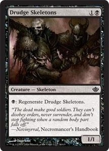Magic the Gathering Duel Decks: Garruk vs. Liliana Single Card Common #36 Drudge Skeletons