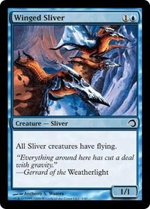 Magic the Gathering Premium Deck Series: Slivers Single Card Common #4 Winged Sliver