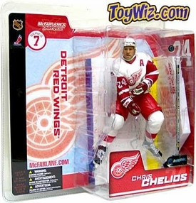 McFarlane Toys NHL Sports Picks Series 7 Action Figure Chris Chelios (Detroit Red Wings) White Jersey