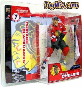McFarlane Toys NHL Sports Picks Series 7 Action Figure Chris Chelios (Chicago Blackhawks) Red Blackhawks Retro Jersey Variant
