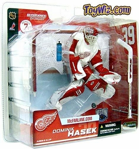 McFarlane Toys NHL Sports Picks Series 7 Action Figure Dominik Hasek (Detroit Red Wings) White Jersey Variant