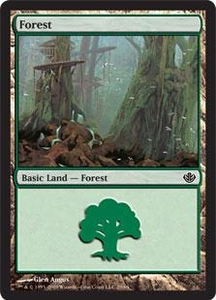 Magic the Gathering Duel Decks: Garruk vs. Liliana Single Card Land #28 Forest [Random Artwork]