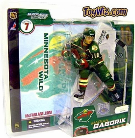 McFarlane Toys NHL Sports Picks Series 7 Action Figure Marian Gaborik (Minnesota Wild) Green Jersey Variant