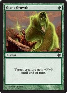 Magic the Gathering Duel Decks: Garruk vs. Liliana Single Card Common #14 Giant Growth