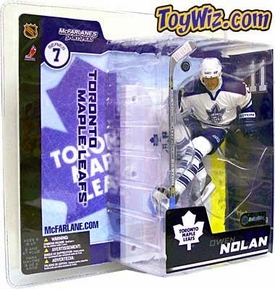 McFarlane Toys NHL Sports Picks Series 7 Action Figure Owen Nolan (Toronto Maple Leafs) White Jersey