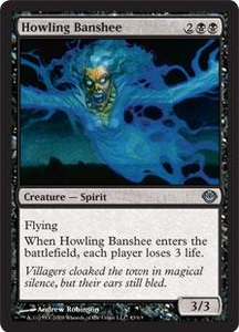 Magic the Gathering Duel Decks: Garruk vs. Liliana Single Card Uncommon #43 Howling Banshee
