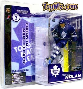 McFarlane Toys NHL Sports Picks Series 7 Action Figure Owen Nolan (Toronto Maple Leafs) Blue Jersey Variant
