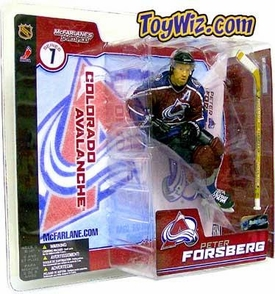 McFarlane Toys NHL Sports Picks Series 7 Action Figure Peter Forsberg (Colorado Avalanche) Maroon Jersey