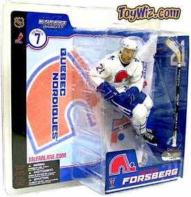 McFarlane Toys NHL Sports Picks Series 7 Action Figure Peter Forsberg (Quebec Nordiques) Retro White Quebec Jersey Variant