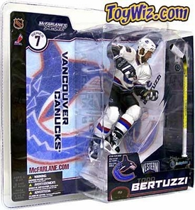 McFarlane Toys NHL Sports Picks Series 7 Action Figure Todd Bertuzzi (Vancouver Canucks) White Jersey