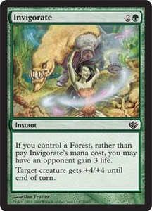 Magic the Gathering Duel Decks: Garruk vs. Liliana Single Card Common #19 Invigorate