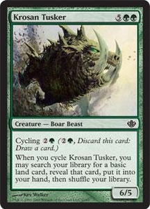 Magic the Gathering Duel Decks: Garruk vs. Liliana Single Card Common #11 Krosan Tusker