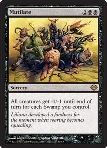Magic the Gathering Duel Decks: Garruk vs. Liliana Single Card Rare #55 Mutilate