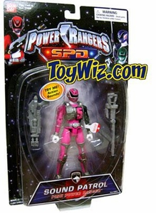 Power Rangers SPD Sound Patrol Action Figure Pink Ranger Very Rare! Very Rare!