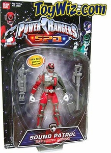 Power Rangers SPD Sound Patrol Action Figure Red Ranger
