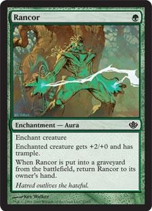 Magic the Gathering Duel Decks: Garruk vs. Liliana Single Card Common #15 Rancor