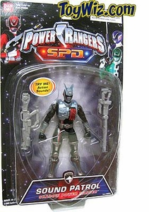 Power Rangers SPD Sound Patrol Action Figure Shadow Ranger Rare!