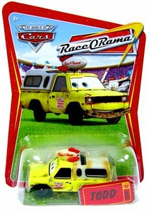 Disney / Pixar CARS Movie 1:55 Die Cast Car Series 4 Race-O-Rama Todd Pizza Planet Truck