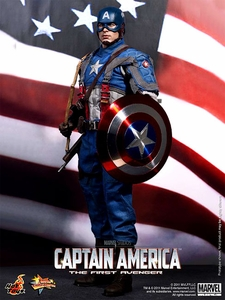 Captain America Hot Toys Movie 1/6 Scale Collectible FigureCaptain America