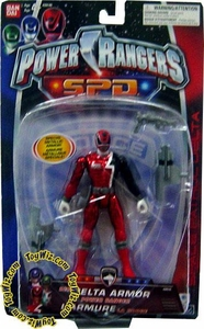 Power Rangers SPD Delta Armor Action Figure Red Metallic Ranger
