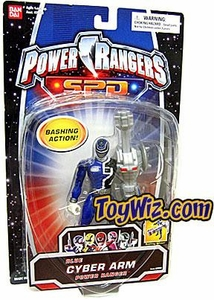 Power Rangers SPD Cyber Arm Action Figure Blue Ranger