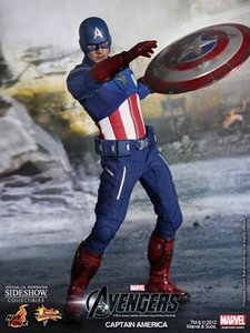 Avengers Hot Toys Movie 1/6 Scale Collectible Figure Captain America