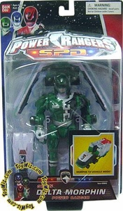 Power Rangers SPD Action Figure Green Delta Morphin