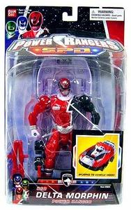 Power Rangers SPD Action Figure Red Delta Morphin Power Ranger