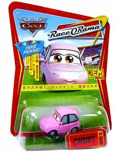 Disney / Pixar CARS Movie 1:55 Die Cast Car Series 4 Race-O-Rama Chuki [Japanese  Package] Chase Piece!