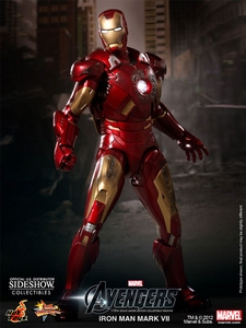 Avengers Hot Toys Movie 1/6 Scale Collectible Figure Iron Man Mark VII