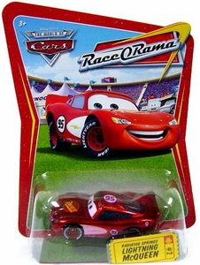 Disney / Pixar CARS Movie 1:55 Die Cast Car Series 4 Race-O-Rama Radiator Springs Lightning McQueen [Pink Paint Variation]