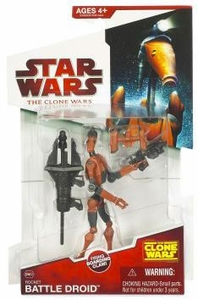 Star Wars 2009 Clone Wars Animated Action Figure CW No. 03 Rocket Battle Droid [Jet Pack]
