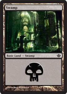 Magic the Gathering Duel Decks: Garruk vs. Liliana Single Card Land #60 Swamp [Random Artwork]