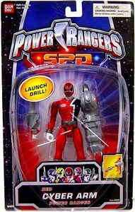 Power Rangers SPD Red Cyber Arm Action Figure