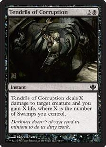 Magic the Gathering Duel Decks: Garruk vs. Liliana Single Card Common #54 Tendrils of Corruption