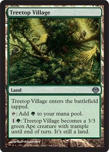 Magic the Gathering Duel Decks: Garruk vs. Liliana Single Card Uncommon #27 Treetop Village