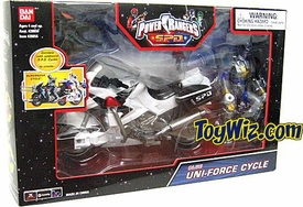 Power Rangers SPD Blue Uni-Force Cycle with Action Figure
