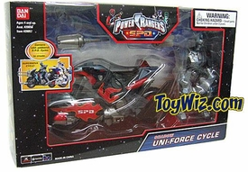 Pocycle blue sodwer Rangers SPD Shadow Uni-Force Cycle with Action Figure