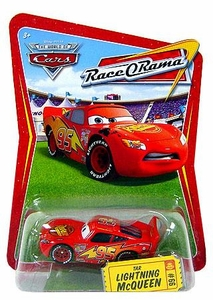 Disney / Pixar CARS Movie 1:55 Die Cast Car Series 4 Race-O-Rama Tar Lightning McQueen