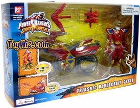 Power Rangers Dino Thunder Red Triassic Hovercraft Cycle with Action Figure