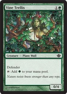 Magic the Gathering Duel Decks: Garruk vs. Liliana Single Card Common #4 Vine Trellis