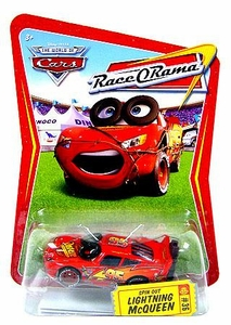 Disney / Pixar CARS Movie 1:55 Die Cast Car Series 4 Race-O-Rama Spin Out Lightning McQueen