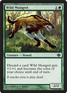 Magic the Gathering Duel Decks: Garruk vs. Liliana Single Card Common #5 Wild Mongrel