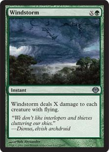 Magic the Gathering Duel Decks: Garruk vs. Liliana Single Card Uncommon #25 Windstorm