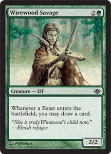 Magic the Gathering Duel Decks: Garruk vs. Liliana Single Card Common #6 Wirewood Savage