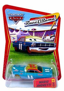 Disney / Pixar CARS Movie 1:55 Die Cast Car Series 4 Race-O-Rama Mario Andretti
